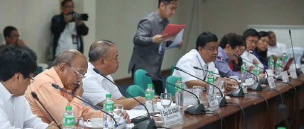 Filipino local government officials make their case for greater administrative control at a hearing of the Committee on Local Government (Photo credit: Bongbong Marcos)